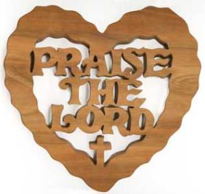 Photo frame of Praise the Lord Jesus Christ Image